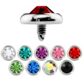 3mm 4mm 5mm Strass Jeweled Titan Basis Körperschmuck Micro Dermal Anchor