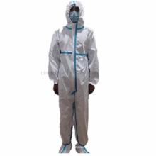 Bata protectora elástica capucha desechable impermeable impermeable