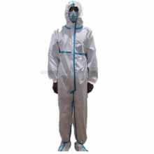 Protective Elastic Hood Wrist Disposable Waterproof Coverall