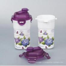 Простой в использовании красивые 450 мл пластиковых стаканчиков