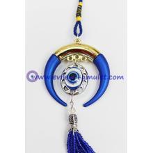 The new evil eye pendant decorated horns evil eye beads