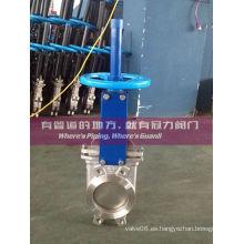 Válvula de compuerta de acero inoxidable bidireccional