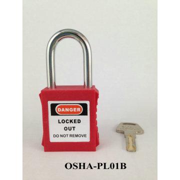 Bloqueo de candado de seguridad etiquetado