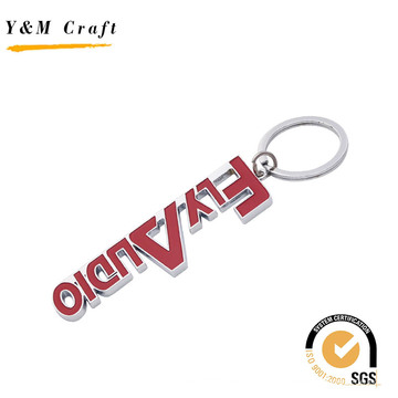 Personalizado Personalização Debossed Logo Matel Chaveiro (Y03841)