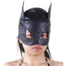 Cute Cat-Like Black Sexy Hat with Mask Eyepatch Blindfold Sm Tool Set Sex Face Mask