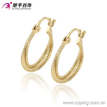 Xuping Simple Women Circle No Stone Jewelry Hoops Earring -90900