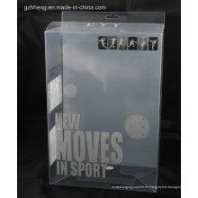 Rectángulo de poliestireno Caja de embalaje de plástico (caja de impresión de seda)