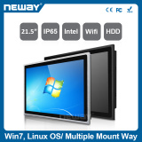 21.5 inch Industrial all in one 1000nits sunlight readable IP65 thin black alloy frame Intel 1037U panel pc