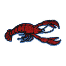 Unique Lobster Crustacean Embroidered Patches