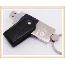 2012 USB Pen Drive with Leather Material (EL018)