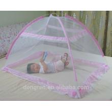 100% poliéster plegado cama de bebé mosquitero pop-up mosquitero
