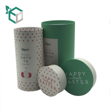 High quality kraft paper grey board tube packaging tea caddy boxes with lid