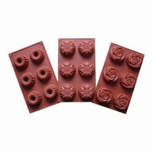 Different-shaped Silicone Chocolate Molds, Nonstick, Water-/Oil-resistant and Easy to Wash