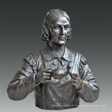 Statuette à grande figure Nurse Nightingale Bronze Sculpture Tpls-083
