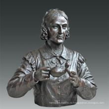 Большая фигура Статуя Медсестра Медсестра Соловей Бронзовая скульптура Tpls-083