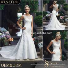 2015 China Kleid Hersteller echte Probe Meerjungfrau Brautkleid
