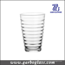 12oz Glass Tumbler with Cross Stripe Design (GB03448012)