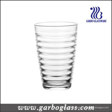 12oz Glass Tumbler with Cross Stripe Design (GB03448012)