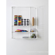 Laveur d'éponge d'évier en acrylique transparent monté au mur