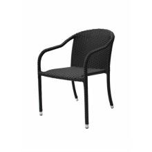 Hot vendendo cadeira de vime de vime de jardim exterior empilhável