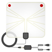 High Gain Flat Design Active Passive 60 Miles HDTV Antenna with Amplifier