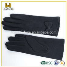 Ladies' Touch Screen Wool Gloves with Wool Lining