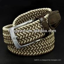 Гольф плетеный эластичный пояс стрейч холст пояс ткань украшенный пояса торговая компания