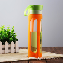 Outdoor Sports Portable Glass Water Bottle