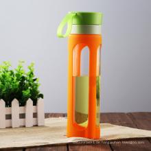 Gesundheit trinken Custom Glas Sport Wasser Flasche