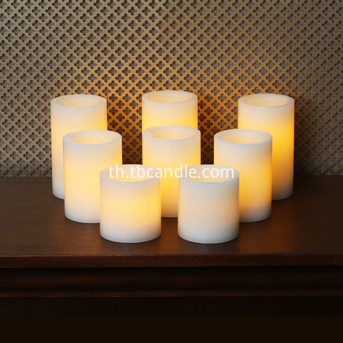 flat flameless candle