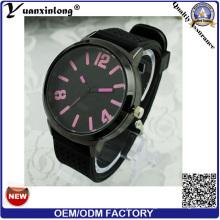 Yxl-171 Custom Logo Günstigstes Silikon Uhr Männer Bunte Dial Lässige Große Zifferblatt Sport Quarz Armbanduhr Herren