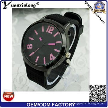 Yxl-171 Пользовательские Логотип Дешевые Силиконовые Часы Мужчины Красочные Циферблат Свободного Покроя Большой Циферблат Спорт Кварцевые Наручные Часы Мужские