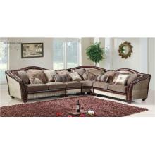 Sofá 3 plazas, loveseat y silla en cuero y chenilla para muebles de sala de estar