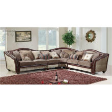 3 PCS Sofa, Loveseat & Chair in Leather & Chenille for Living Room Furniture