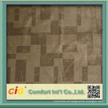 tecido de couro do PVC para o sofá