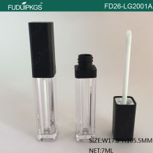 7ML Matte Black Cap Lip Gloss Container
