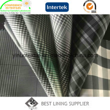 100% Polyester Men′s Jacket Lining Fabric Check Lining