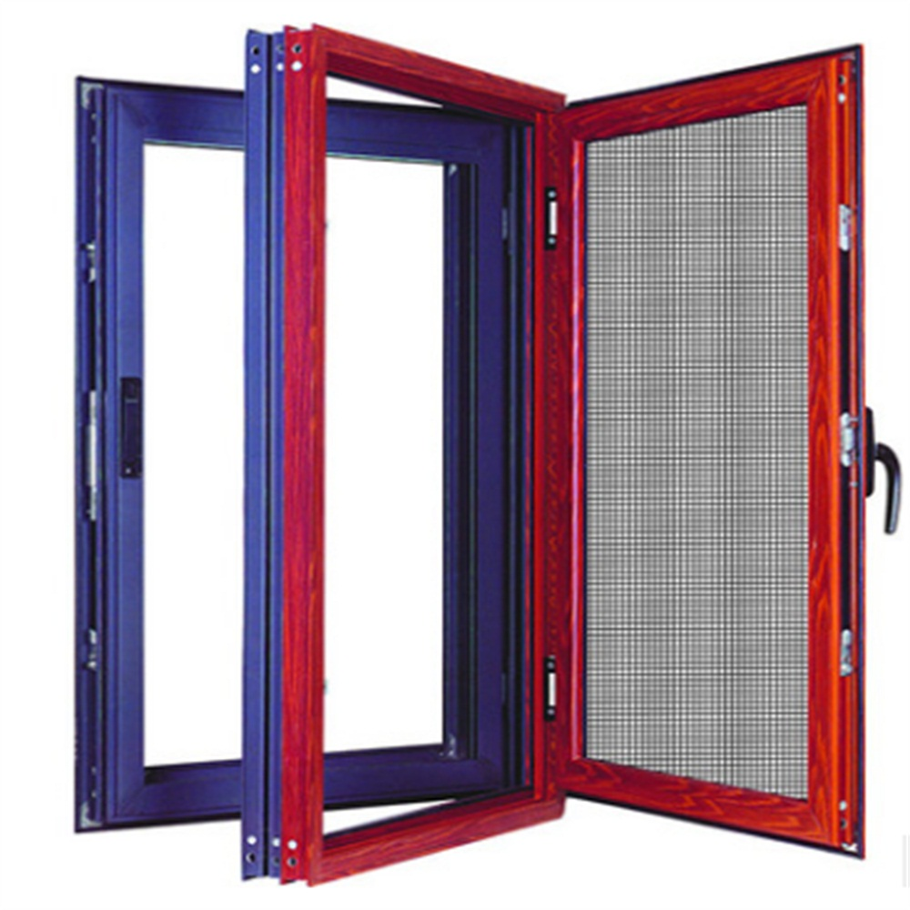 thermal break casement window with integrated screen