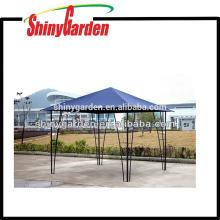 Gazebo extérieur de jardin de tube de poteau en métal extérieur avec la tente de toit en tissu