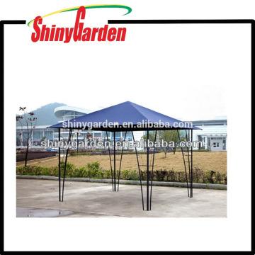 Gazebo de aço ao ar livre do jardim do tubo do pólo do metal com a barraca do telhado da tela