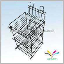 Display Rack Sturdy knock down 3 prateleiras de arame Estante de exposição cosmética