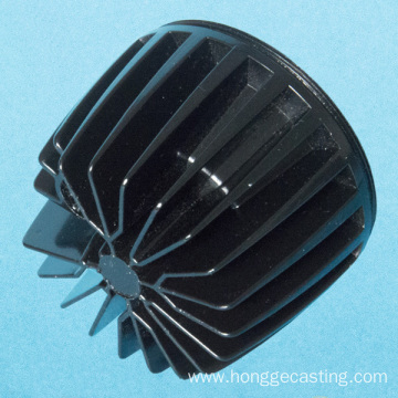 Painted Black LED Heat Sinks Aluminum die Casting