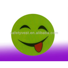 Adhesive Yellow Reflective Smiley Face Safety Stiker
