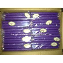 Gros bougie de pilier de bâton de couleur violette