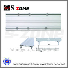 Double Plastic PVC Curtain Tracks Curtain Rails Ceiling Mounted