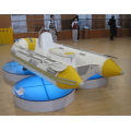 Hot-Selling 4.2m Yellow and White Inflatable Rib Boat
