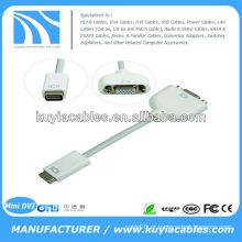 Mini cabo DVI para VGA para Apple Mac