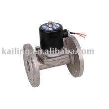 Válvulas de solenoide de acero inoxidable brida de conexión