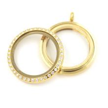 Moda preço de fábrica 30 milímetros de ouro torção pingente de vidro pingente