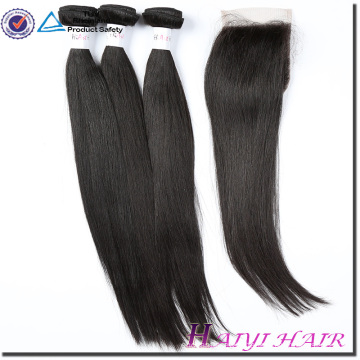 Virgin Hair Straight Style natural hairline brazilian lace closure 5x5